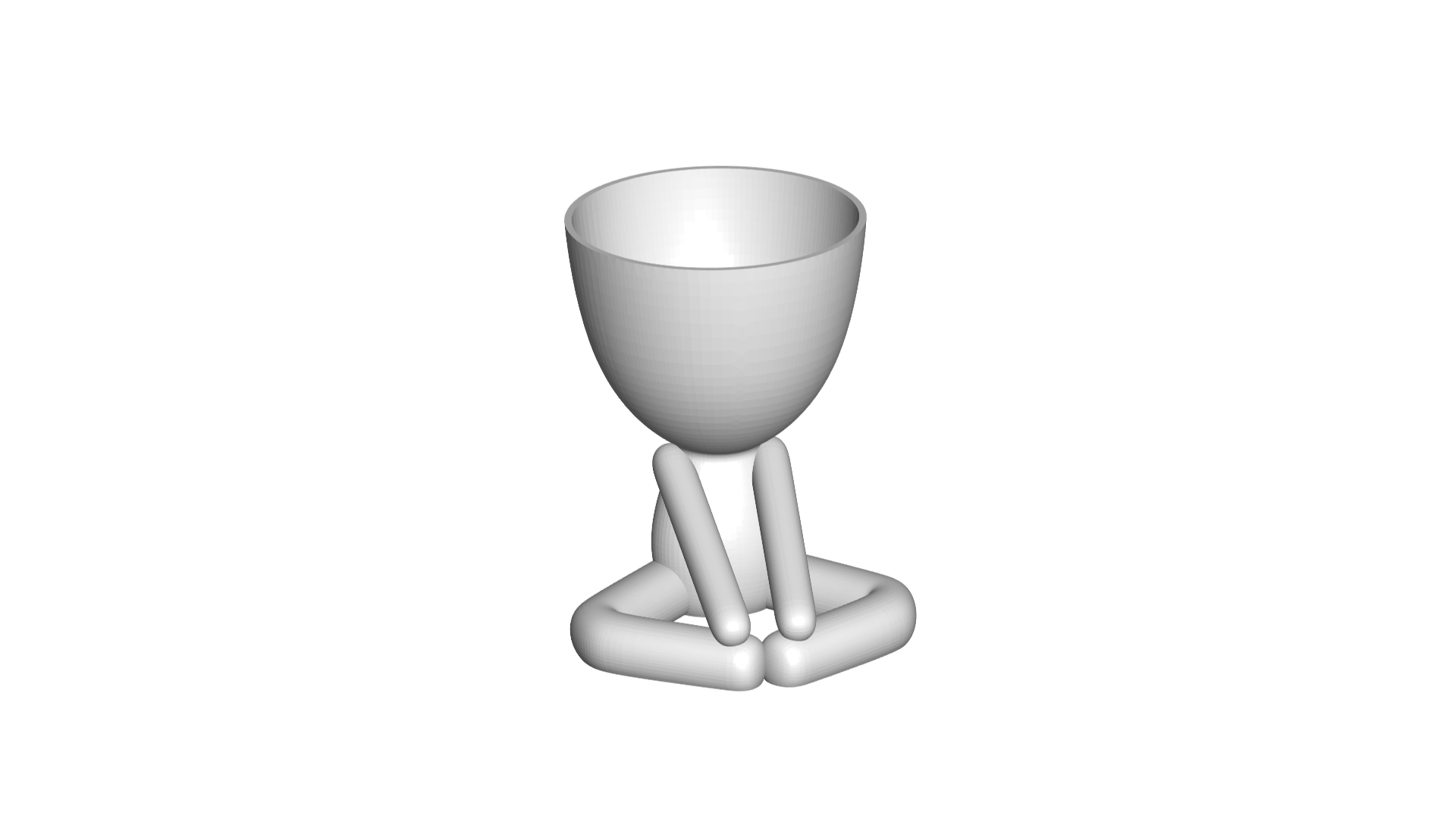 Vaso_12_Blanco_1.jpg Download free STL file YOGA ESTIRANDO JARRÓN MACETA ROBERT 12 -  YOGA STRETCHING VASE FLOWERPOT ROBERT 12 • Template to 3D print, PRODUSTL56