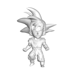 Goku_1.png Download free STL file DRAGON BALL Z DBZ / MINIATURE COLLECTIBLE FIGURE DRAGON BALL Z DBZ GOKU • Object to 3D print, PRODUSTL56