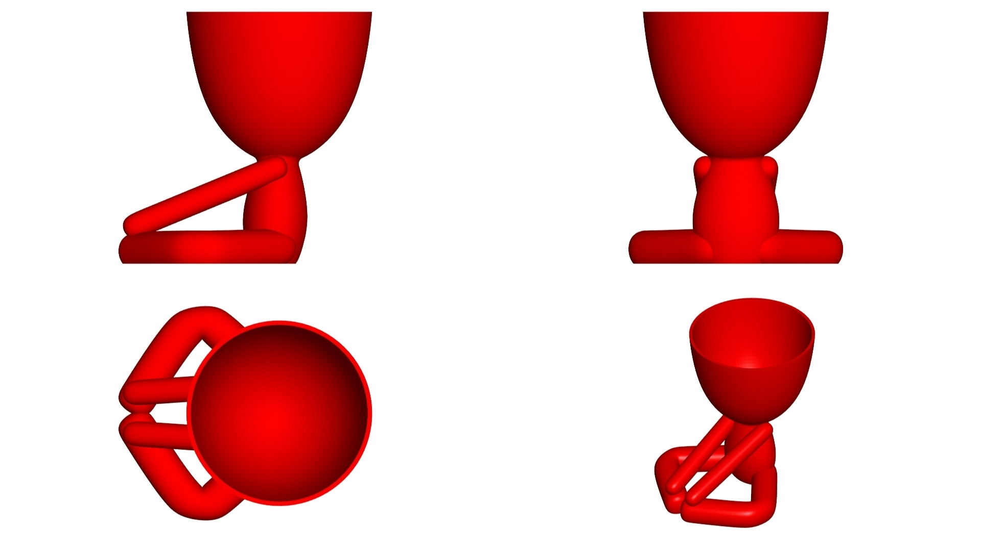 Vaso_12_Rojo_2.jpg Download free STL file YOGA ESTIRANDO JARRÓN MACETA ROBERT 12 -  YOGA STRETCHING VASE FLOWERPOT ROBERT 12 • Template to 3D print, PRODUSTL56