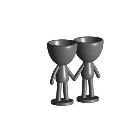 Enamorados_N6_Gris_1.png Download free STL file N° 6 VASES ROBERT IN LOVE - N° 6 VASE 8 FLOWERPOT ROBERT IN LOVE • Template to 3D print, PRODUSTL56