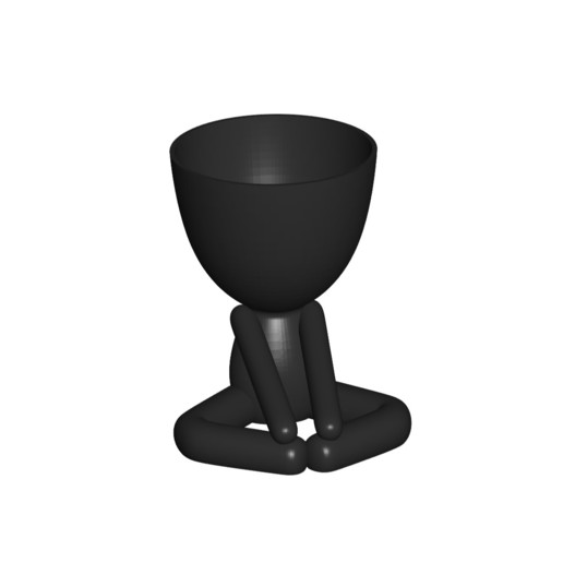 Vaso_12_Negro_1.jpg Download free STL file YOGA ESTIRANDO JARRÓN MACETA ROBERT 12 -  YOGA STRETCHING VASE FLOWERPOT ROBERT 12 • Template to 3D print, PRODUSTL56