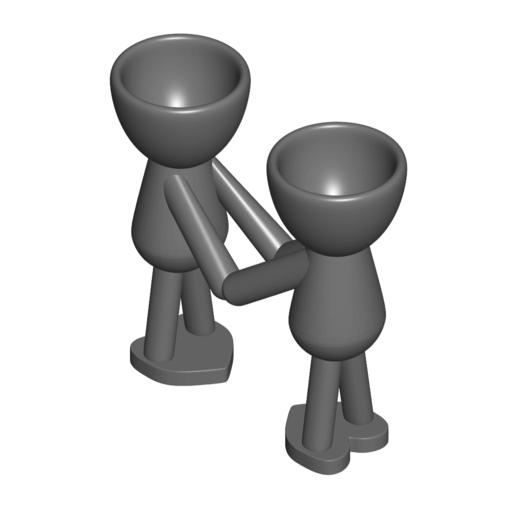 Enamorados_N5_Gris_1.png Download free STL file Maceta Florero Robert N° 5 VASE FLOWERPOT ROBERT IN LOVE • Object to 3D print, PRODUSTL56