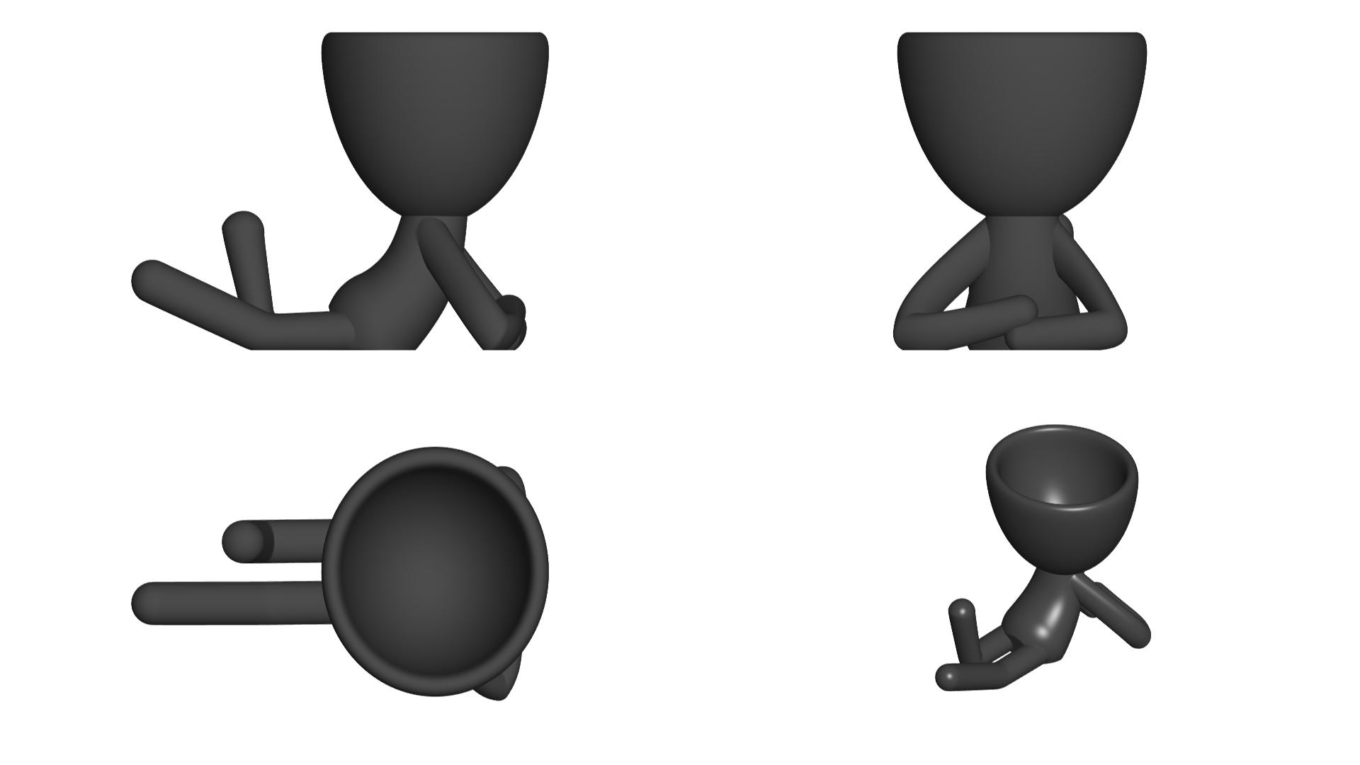 Vaso_02_Negro_2.jpg Download free STL file JARRÓN MACETA ROBERT 02 - VASE FLOWERPOT ROBERT 02 • 3D print model, PRODUSTL56
