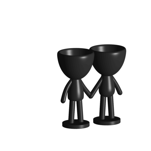Enamorados_N6_Negro_1.png Download free STL file N° 6 VASES ROBERT IN LOVE - N° 6 VASE 8 FLOWERPOT ROBERT IN LOVE • Template to 3D print, PRODUSTL56