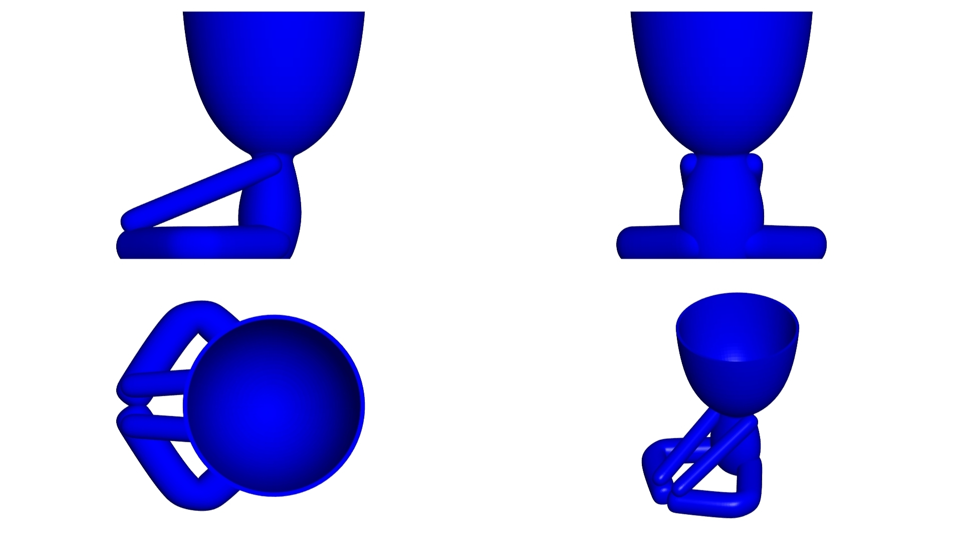 Vaso_12_Azul_2.jpg Download free STL file YOGA ESTIRANDO JARRÓN MACETA ROBERT 12 -  YOGA STRETCHING VASE FLOWERPOT ROBERT 12 • Template to 3D print, PRODUSTL56