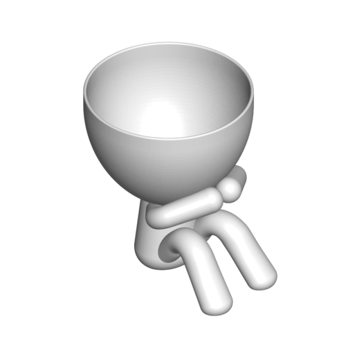 3_blanco_2.png Download free STL file MACETA FLORERO ROBERT PLANT - POT GLASS ROBERT WISE I DO NOT SPEAK • 3D printer design, PRODUSTL56