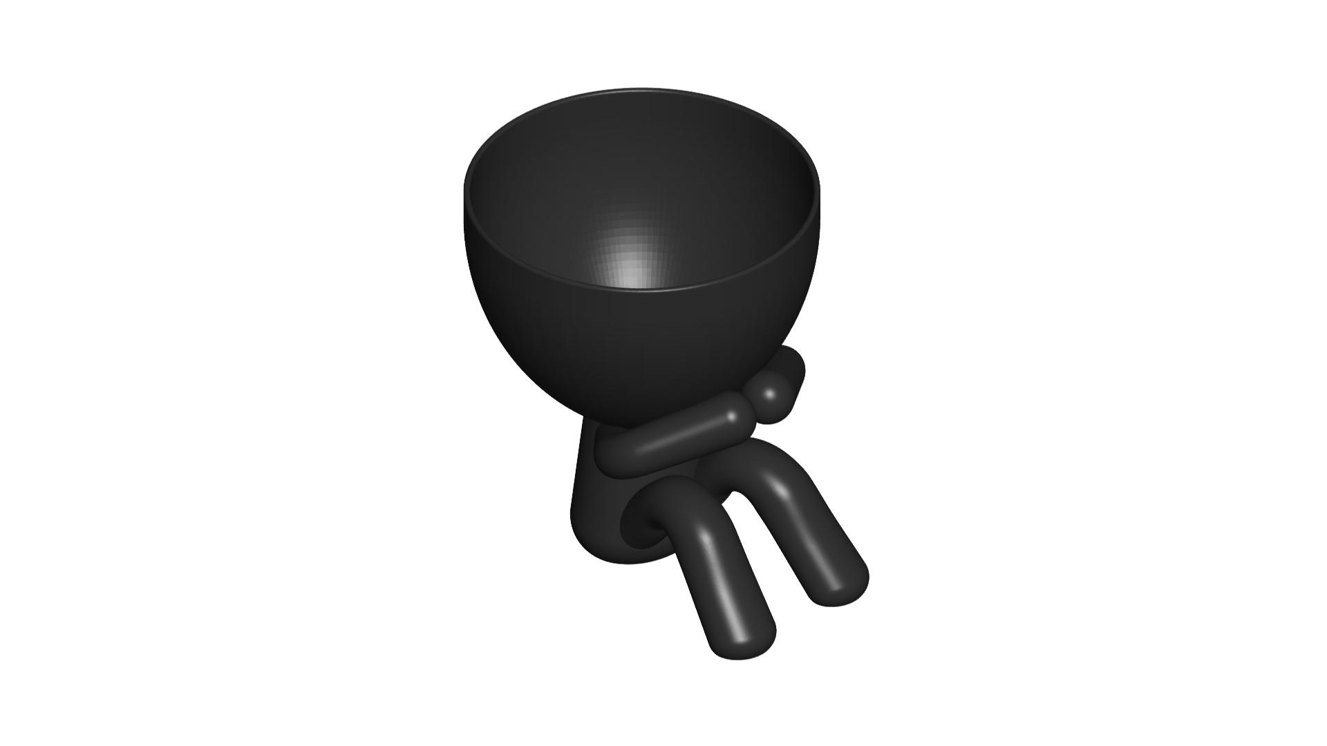 3_negro_2.png Download free STL file MACETA FLORERO ROBERT PLANT - POT GLASS ROBERT WISE I DO NOT SPEAK • 3D printer design, PRODUSTL56