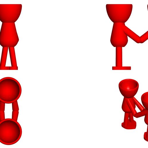 Enamorados_N5_Rojo_2.png Download free STL file Maceta Florero Robert N° 5 VASE FLOWERPOT ROBERT IN LOVE • Object to 3D print, PRODUSTL56