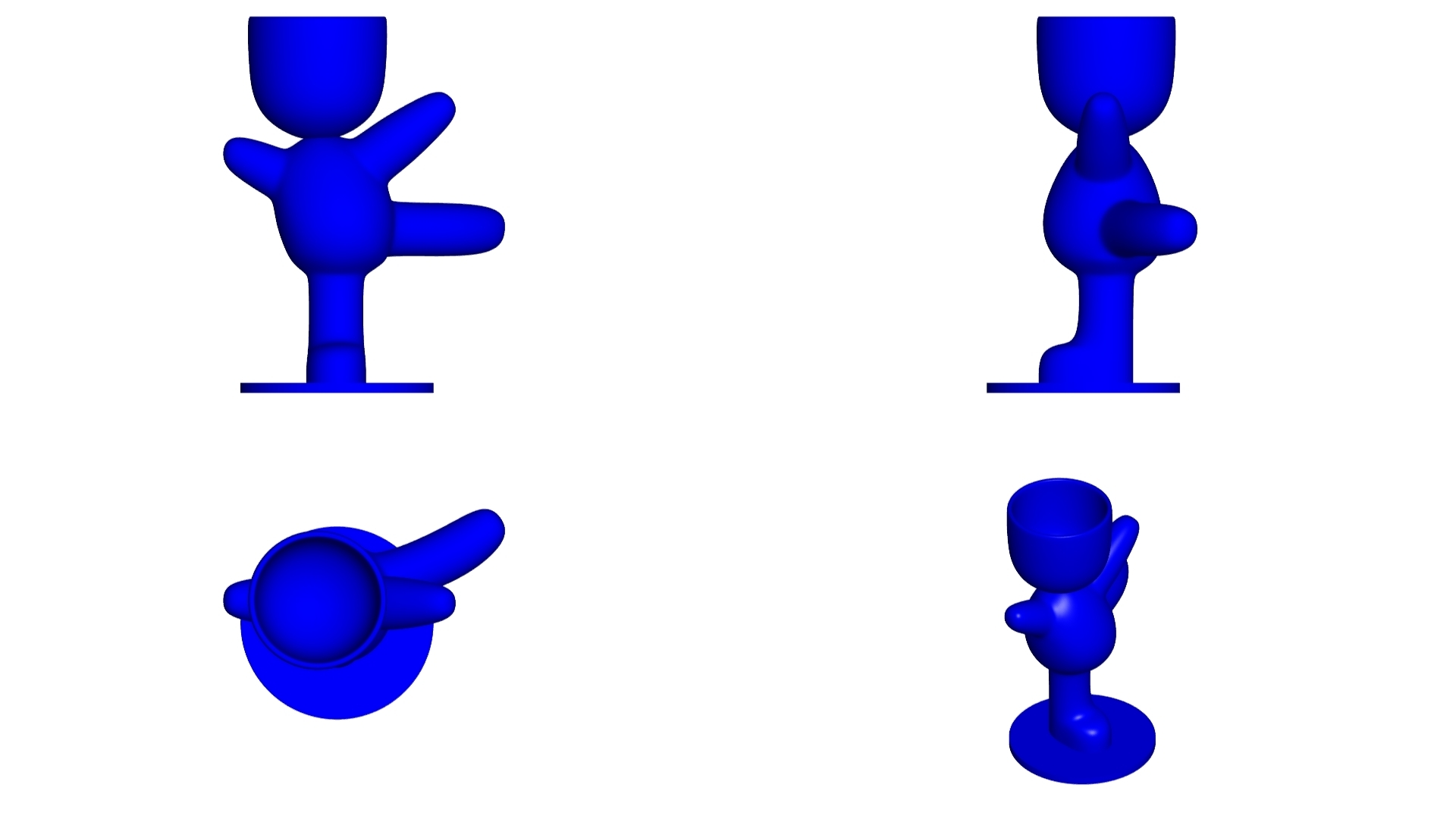 Vaso_100_Azul_2.jpg Download free STL file JARRÓN MACETA ROBERT 100 BALLET - VASE FLOWERPOT ROBERT 100 BALLET • 3D print template, PRODUSTL56