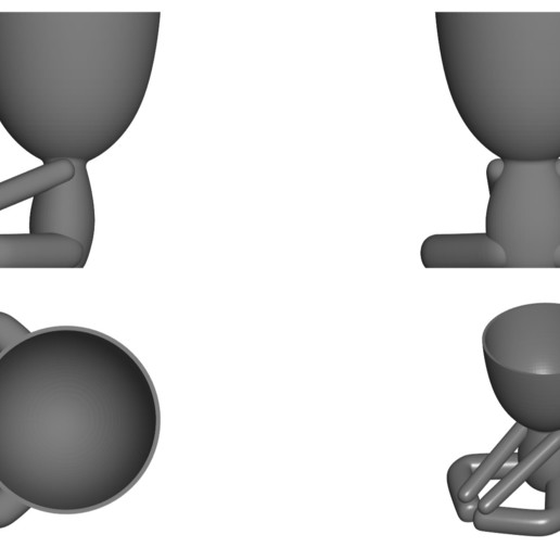 Vaso_12_Gris_2.jpg Download free STL file YOGA ESTIRANDO JARRÓN MACETA ROBERT 12 -  YOGA STRETCHING VASE FLOWERPOT ROBERT 12 • Template to 3D print, PRODUSTL56
