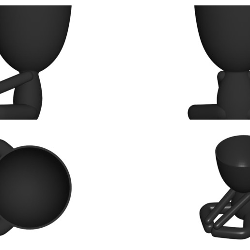 Vaso_12_Negro_2.jpg Download free STL file YOGA ESTIRANDO JARRÓN MACETA ROBERT 12 -  YOGA STRETCHING VASE FLOWERPOT ROBERT 12 • Template to 3D print, PRODUSTL56