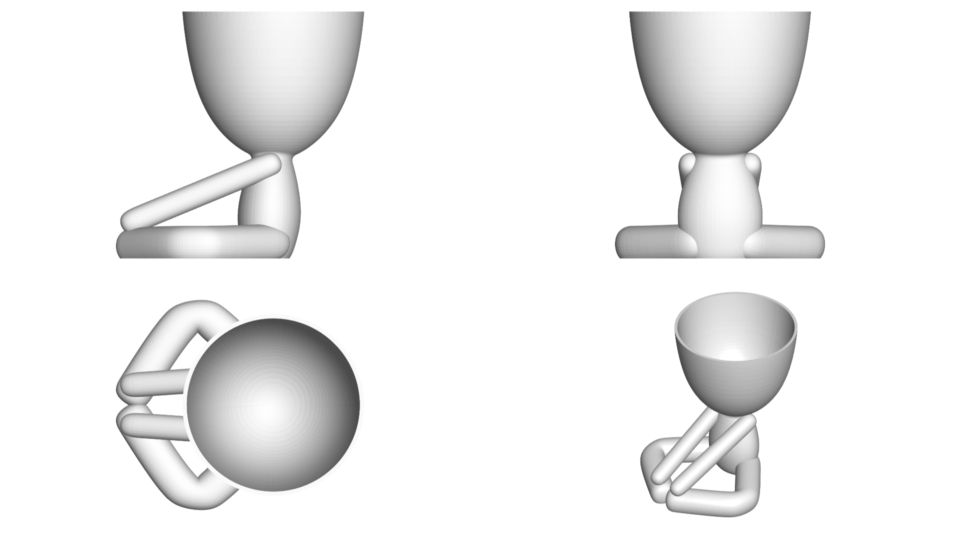Vaso_12_Blanco_2.jpg Download free STL file YOGA ESTIRANDO JARRÓN MACETA ROBERT 12 -  YOGA STRETCHING VASE FLOWERPOT ROBERT 12 • Template to 3D print, PRODUSTL56