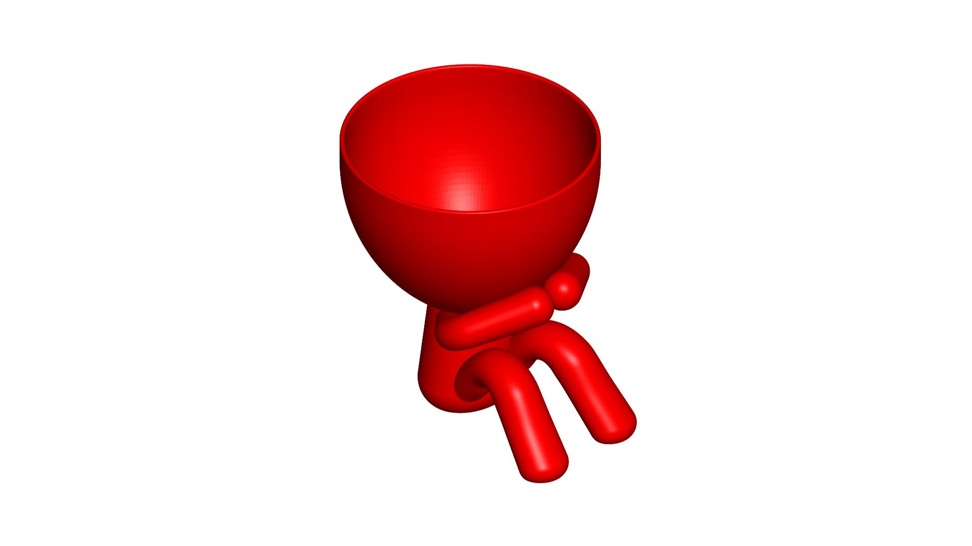 3_rojo_2.png Download free STL file MACETA FLORERO ROBERT PLANT - POT GLASS ROBERT WISE I DO NOT SPEAK • 3D printer design, PRODUSTL56