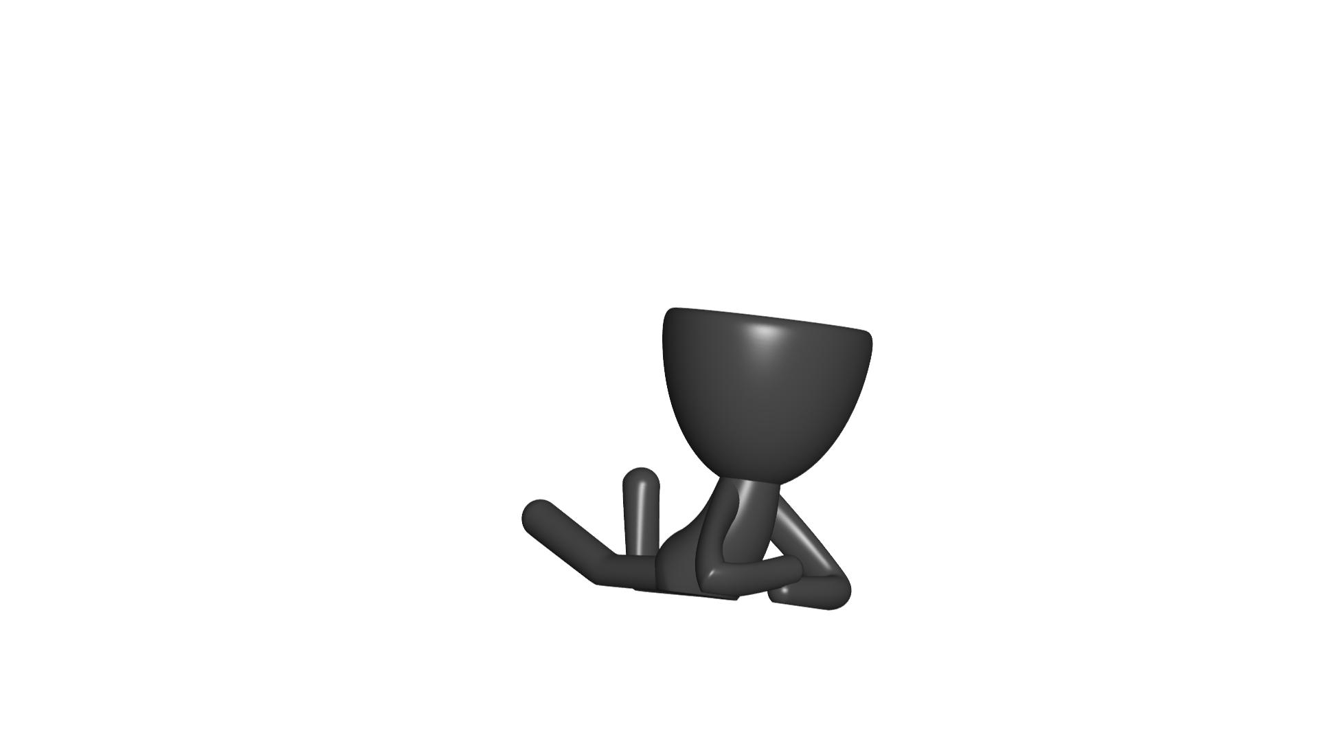 Vaso_02_Negro.jpg Download free STL file JARRÓN MACETA ROBERT 02 - VASE FLOWERPOT ROBERT 02 • 3D print model, PRODUSTL56