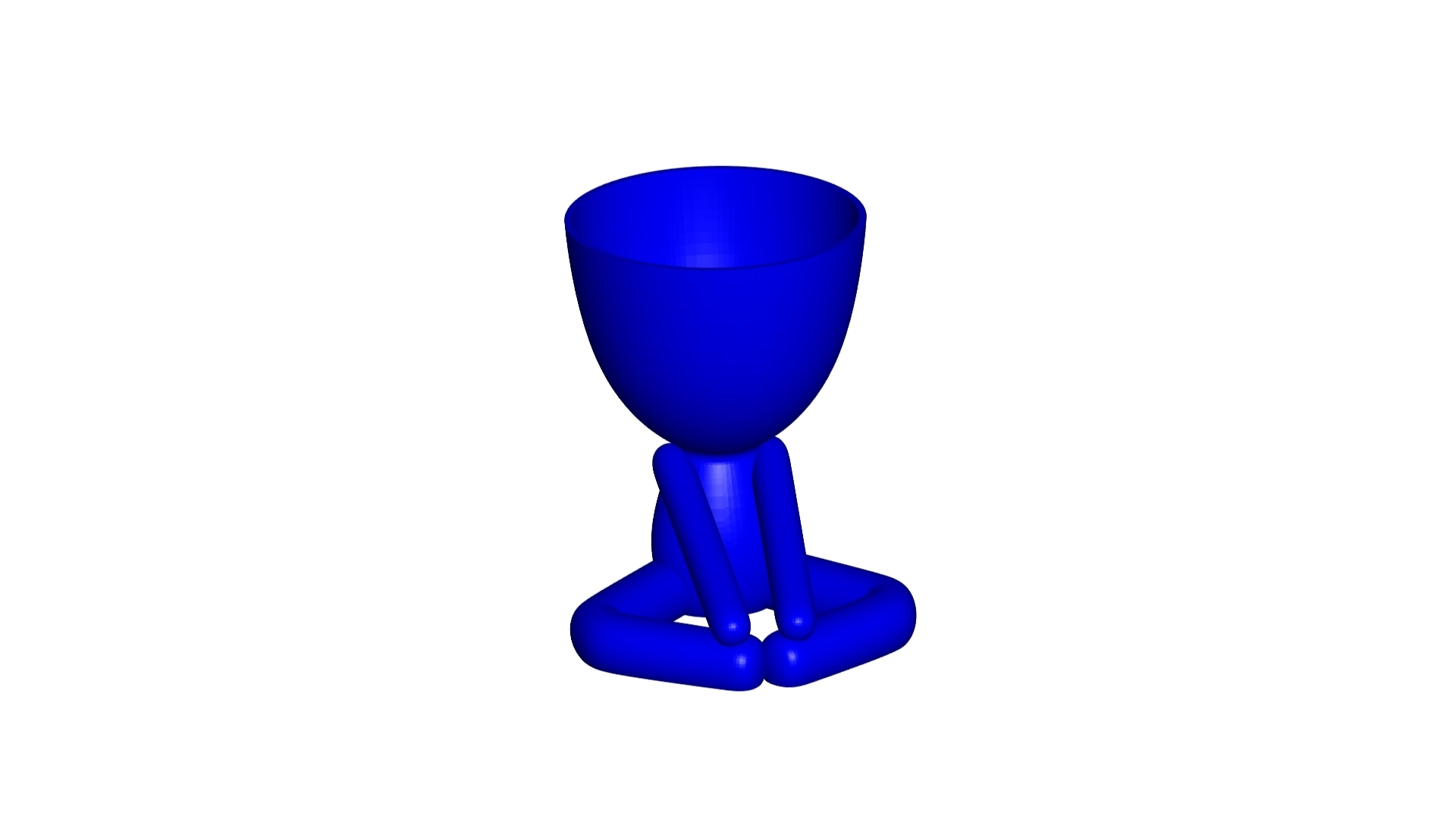 Vaso_12_Azul_1.jpg Download free STL file YOGA ESTIRANDO JARRÓN MACETA ROBERT 12 -  YOGA STRETCHING VASE FLOWERPOT ROBERT 12 • Template to 3D print, PRODUSTL56
