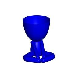Vaso_12_Azul_1.jpg Télécharger fichier STL gratuit YOGA ESTIRANDO JARRÓN MACETA ROBERT 12 - VASE D'ÉTIREMENT DE YOGA POT DE FLEURS ROBERT 12 • Plan imprimable en 3D, PRODUSTL56