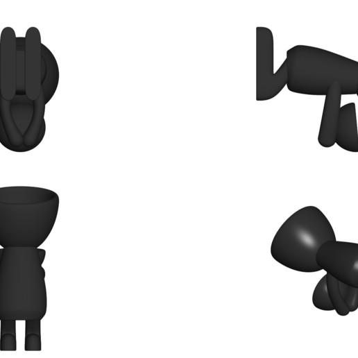 Vaso_05_Negro_2.jpg Download free STL file JARRÓN MACETA ROBERT 05 - VASE FLOWERPOT ROBERT 05 • 3D printer design, PRODUSTL56