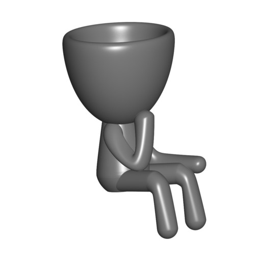 Vaso_11_Gris_1.jpg Download free STL file JARRÓN MACETA ROBERT 11 - VASE FLOWERPOT ROBERT 11 • 3D print model, PRODUSTL56