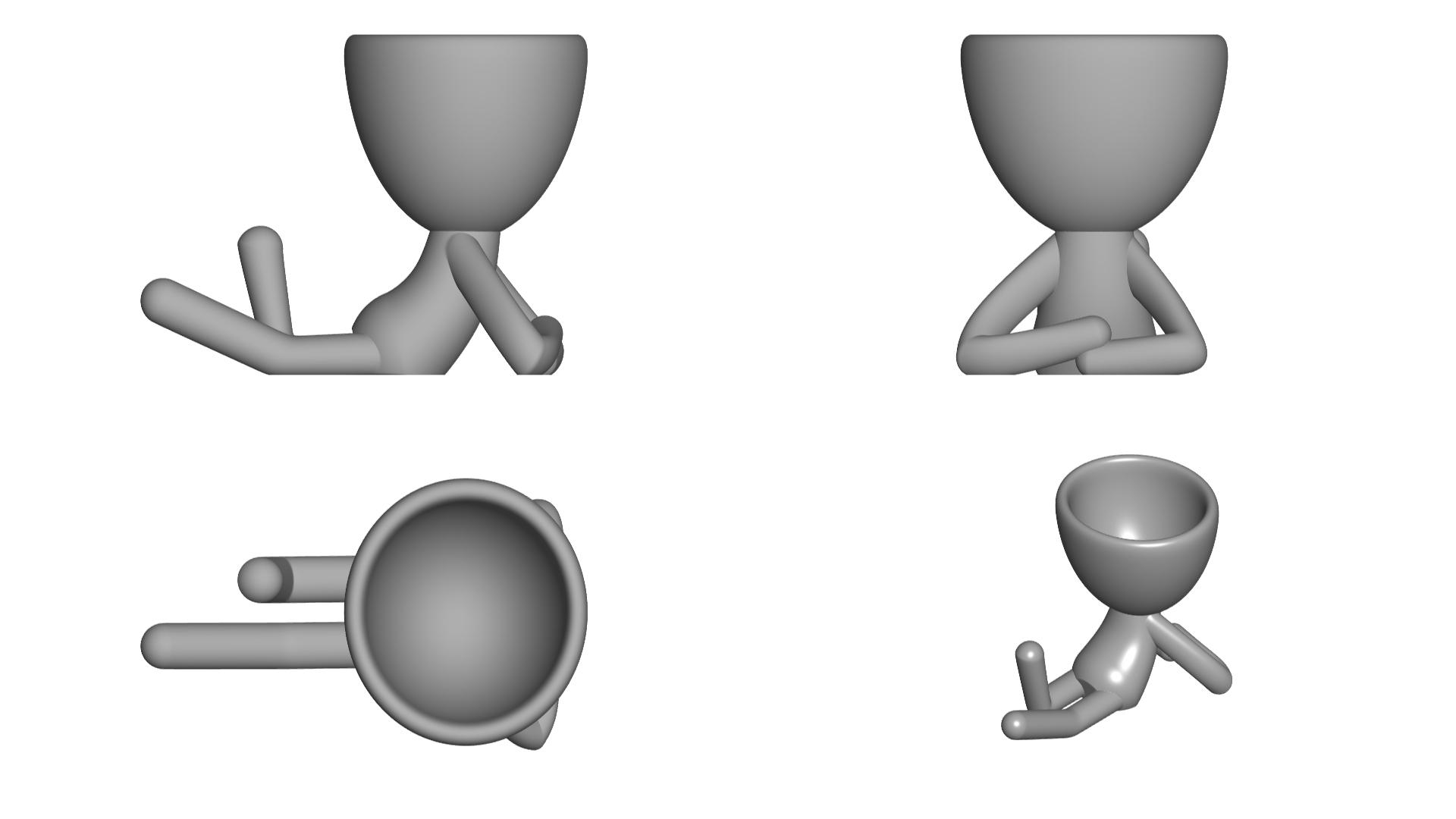 Vaso_02_Gris_2.jpg Download free STL file JARRÓN MACETA ROBERT 02 - VASE FLOWERPOT ROBERT 02 • 3D print model, PRODUSTL56