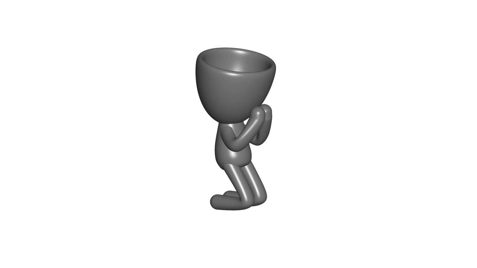 Vaso_09_Gris_1.jpg Download free STL file REZANDO AGRADECIENDO JARRÓN MACETA ROBERT 09 - PRAYING THANKING VASE FLOWERPOT ROBERT 09 • 3D printer model, PRODUSTL56