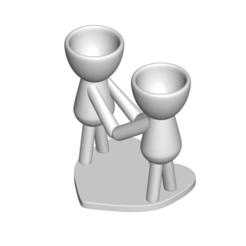 Enamorados_N4_Blanco_1.png Télécharger fichier STL gratuit Florero Maceta Robert N° 4 VASE FLOWERPOT ROBERT IN LOVE • Modèle imprimable en 3D, PRODUSTL56