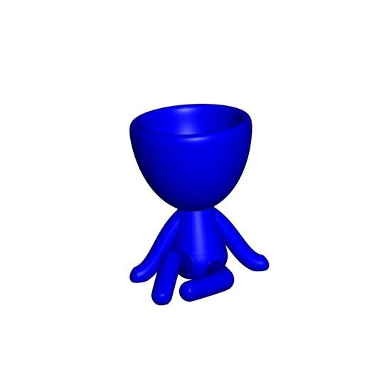 Vaso_1_Azul.jpg Download free STL file JARRÓN MACETA ROBERT 01 - VASE FLOWERPOT ROBERT 01 • 3D printable object, PRODUSTL56