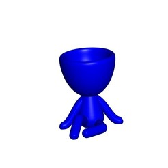 Vaso_1_Azul.jpg Download free STL file JARRÓN MACETA ROBERT 01 - VASE FLOWERPOT ROBERT 01 • 3D printable object, PRODUSTL56