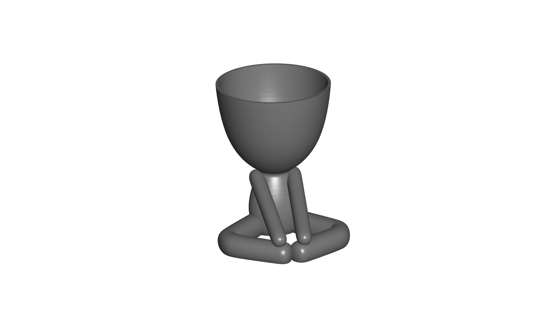 Vaso_12_Gris_1.jpg Download free STL file YOGA ESTIRANDO JARRÓN MACETA ROBERT 12 -  YOGA STRETCHING VASE FLOWERPOT ROBERT 12 • Template to 3D print, PRODUSTL56