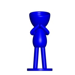 Vaso_06_Azul_1.jpg Download free STL file JARRÓN MACETA ROBERT 06 - VASE FLOWERPOT ROBERT 06 • 3D printable design, PRODUSTL56