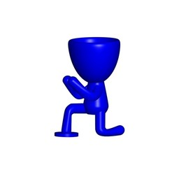 Vaso_08_Azul_1.jpg Download free STL file JARRÓN MACETA ROBERT 08 - VASE FLOWERPOT ROBERT 08 • 3D printing template, PRODUSTL56