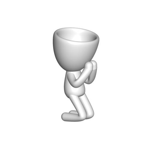 Vaso_09_Blanco_1.jpg Download free STL file REZANDO AGRADECIENDO JARRÓN MACETA ROBERT 09 - PRAYING THANKING VASE FLOWERPOT ROBERT 09 • 3D printer model, PRODUSTL56