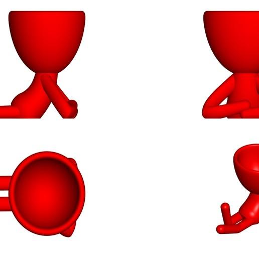 Vaso_02_Rojo_2.jpg Download free STL file JARRÓN MACETA ROBERT 02 - VASE FLOWERPOT ROBERT 02 • 3D print model, PRODUSTL56