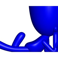 Vaso_101_Azul_1.jpg Télécharger fichier STL gratuit Maceta Florero Robert Plant leyendo libro - VASE FLOWERPOT ROBERT PLANT LIRE UN LIVRE • Design pour imprimante 3D, PRODUSTL56