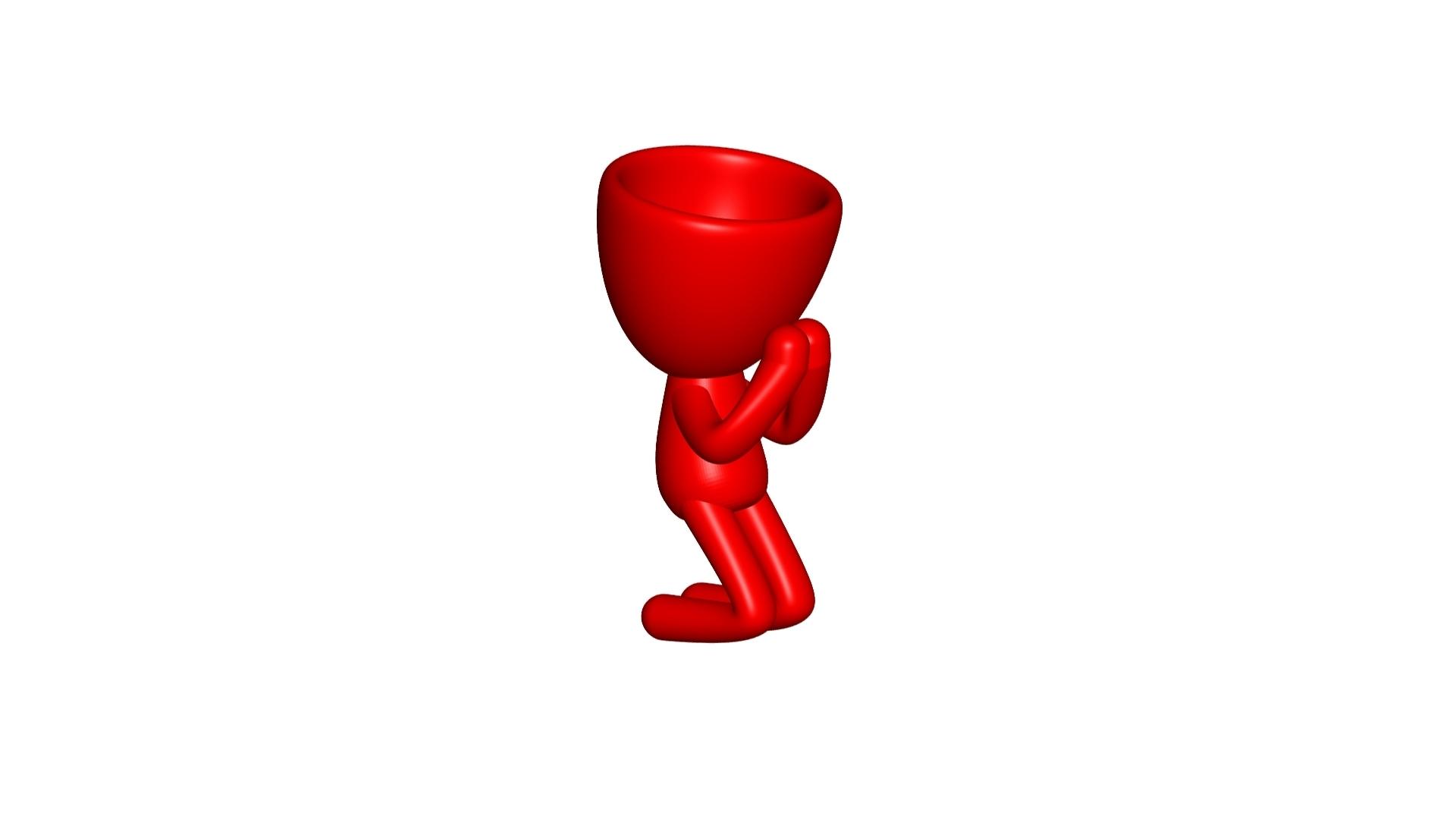 Vaso_09_Rojo_1.jpg Download free STL file REZANDO AGRADECIENDO JARRÓN MACETA ROBERT 09 - PRAYING THANKING VASE FLOWERPOT ROBERT 09 • 3D printer model, PRODUSTL56
