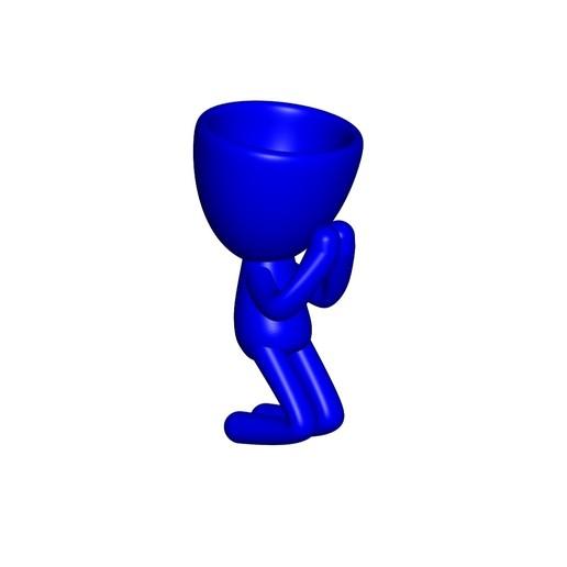Vaso_09_Azul_1.jpg Download free STL file REZANDO AGRADECIENDO JARRÓN MACETA ROBERT 09 - PRAYING THANKING VASE FLOWERPOT ROBERT 09 • 3D printer model, PRODUSTL56