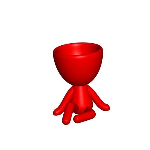 Vaso_1_rojo.jpg Download free STL file JARRÓN MACETA ROBERT 01 - VASE FLOWERPOT ROBERT 01 • 3D printable object, PRODUSTL56