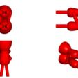 Download free STL file SET DE 8 MACETAS ENAMORADOS ROBERT PLANTS - SET VASE 8 FLOWERPOT ROBERT IN LOVE • Design to 3D print, PRODUSTL56