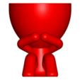 3_rojo_1.png Download free STL file MACETA FLORERO ROBERT PLANT - POT GLASS ROBERT WISE I DO NOT SPEAK • 3D printer design, PRODUSTL56