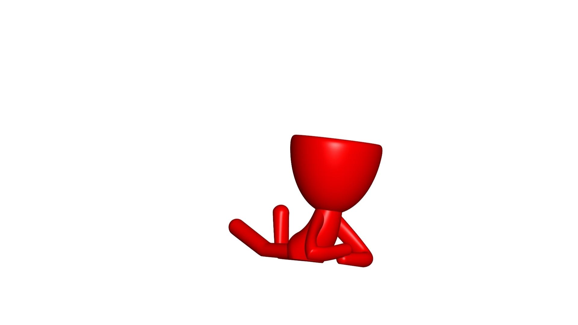 Vaso_02_Rojo.jpg Download free STL file JARRÓN MACETA ROBERT 02 - VASE FLOWERPOT ROBERT 02 • 3D print model, PRODUSTL56
