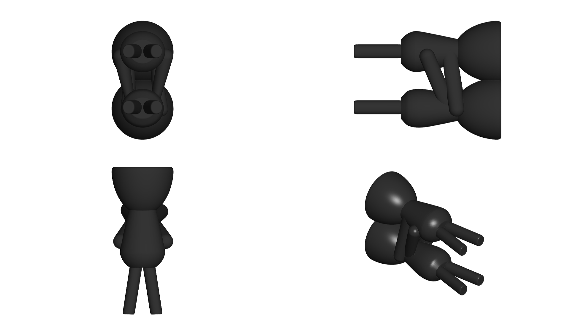 Enamorados_N7_Negro_2.png Download free STL file Florero Robert Enamorado - N° 7 VASE FLOWERPOT ROBERT IN LOVE • Design to 3D print, PRODUSTL56