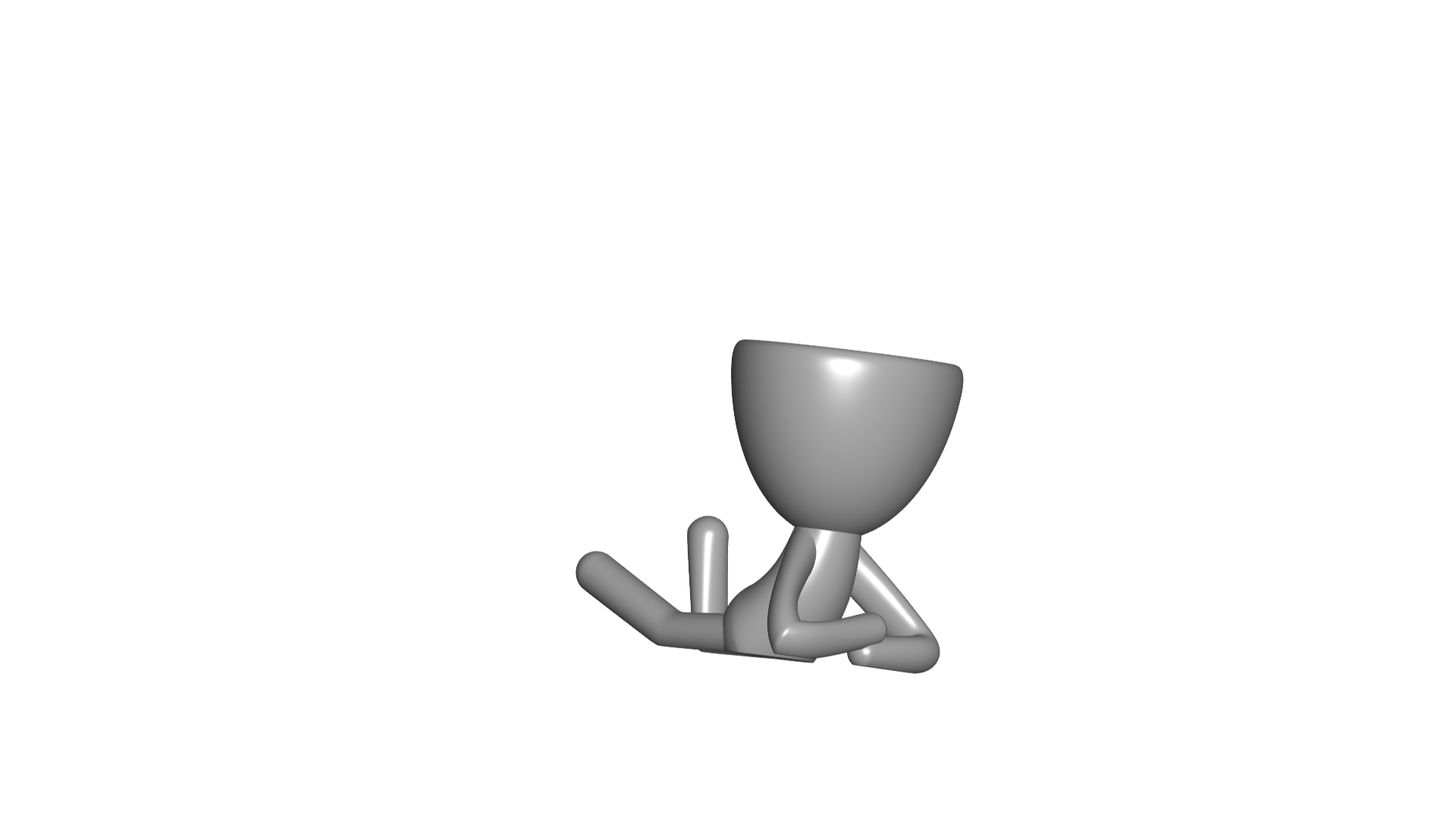 Vaso_02_Gris_1.jpg Download free STL file JARRÓN MACETA ROBERT 02 - VASE FLOWERPOT ROBERT 02 • 3D print model, PRODUSTL56