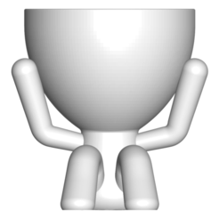 2_blanco_1.png Download free STL file MACETA FLORERO ROBERT PLANT - POT GLASS ROBERT SABIOS DOES NOT LISTEN • 3D printer model, PRODUSTL56