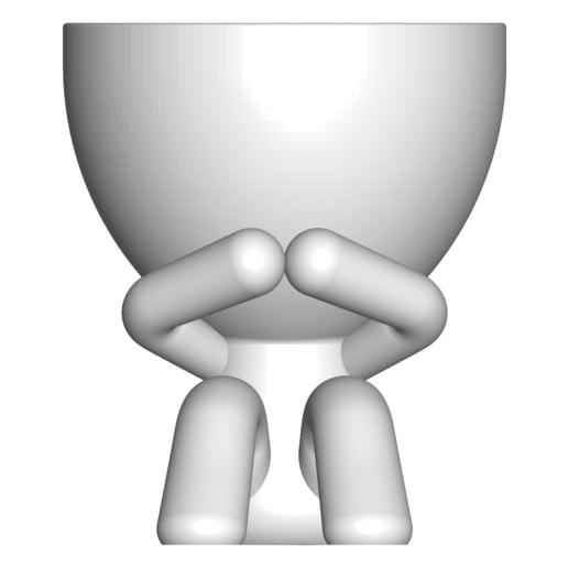 3_blanco_1.png Download free STL file MACETA FLORERO ROBERT PLANT - POT GLASS ROBERT WISE I DO NOT SPEAK • 3D printer design, PRODUSTL56