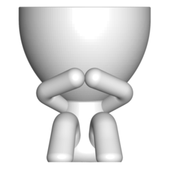 3_blanco_1.png Download free STL file MACETA FLORERO ROBERT PLANT - POT GLASS ROBERT WISE I DO NOT SPEAK • 3D printer design, PRODUSTL56