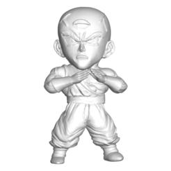 Tenshinhan_1.png Download free STL file DRAGON BALL Z DBZ / MINIATURE COLLECTIBLE FIGURE DRAGON BALL Z DBZ TEN SHIN HAN • 3D print design, PRODUSTL56