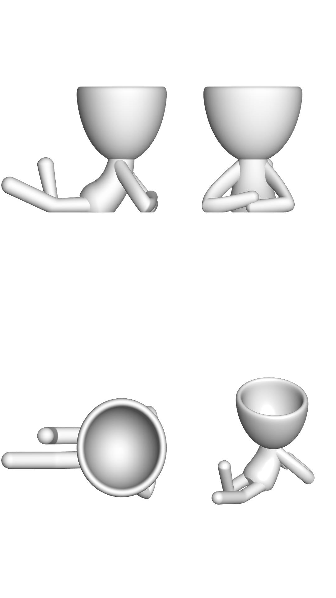 Vaso_02_Blanco_2.jpg Download free STL file JARRÓN MACETA ROBERT 02 - VASE FLOWERPOT ROBERT 02 • 3D print model, PRODUSTL56