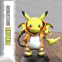 11.jpg Télécharger fichier STL gratuit Pikachu ItsBirdy Style • Modèle pour impression 3D, Hitsuji