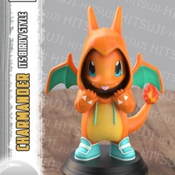 CHARMANDER11.jpg Download STL file Charmander ItsBirdy Style • 3D printer object, Hitsuji