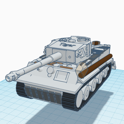 Screen Shot 2021-01-21 at 3.54.53 pm.png Download STL file Tiger Tank Model • 3D printer design, 3D_Designer