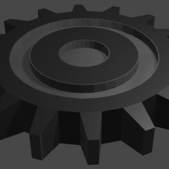 Gear.jpg Download OBJ file Simple Gear • 3D printable template, sahaabkhawaja